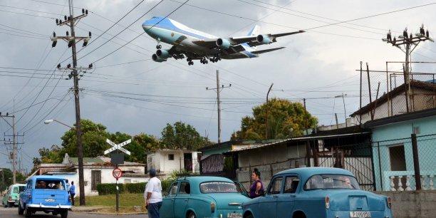 L'avion présidentiel Air Force One avec à son bord Barack Obama et sa famille, le 20 mars.