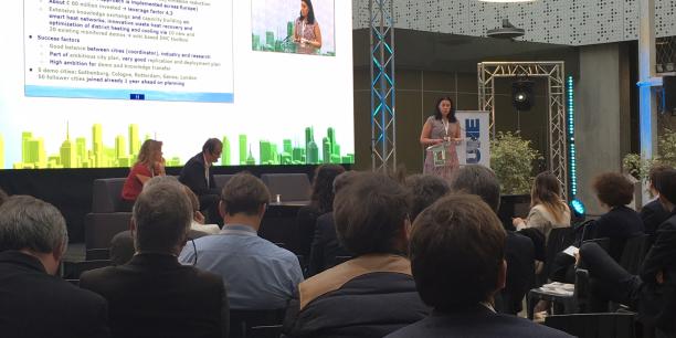Idoia Postigo (Bilbao Metropoli-30), Nathalie Renneboog (Citydev.brussels) et Magdalena-Andreea Strachinescu-Olteanu (Commission européenne) sont intervenues sur la table ronde  Territoires, attractivité et économie de l'innovation, animée par Jean-Christophe Chanut, journaliste à La Tribune.