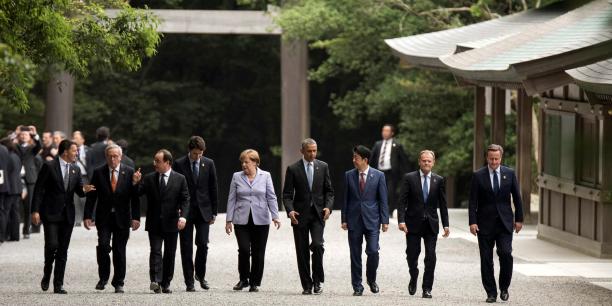 """Les dirigeants du G7 souhaitent l'adoption d'""""une panoplie de mesures plus efficace et plus équilibrée"""" afin d'atteindre une croissance """"forte et durable""""."""