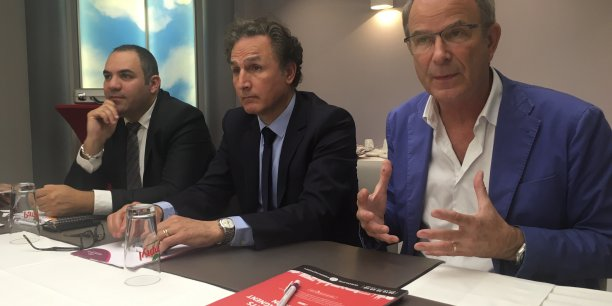 Thomas Simonian, Armand Partouche et Jean-Christophe Giesbert