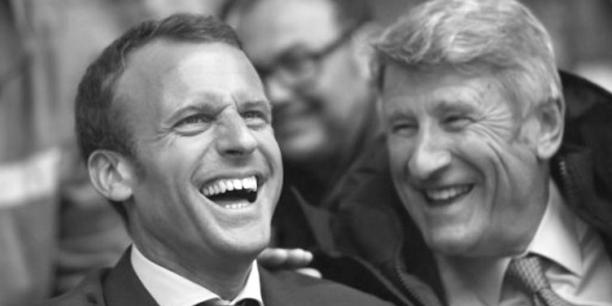 Emmanuel Macron avec Philippe de Villiers, au Puy-du-Fou.Loïc Venance/Flickr