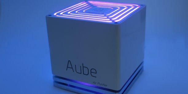 Le purificateur d'air Aube, mis au point par la start-up normande Aykow.