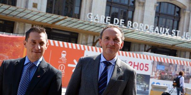 Philippe Bru, directeur TER Nouvelle-Aquitaine, et Franck Lacroix, directeur général TER