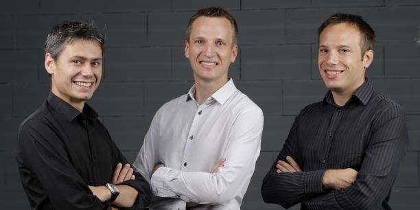 Emmanuel Cholet, Julien et Vincent Barbot, cofondateurs de Weenove