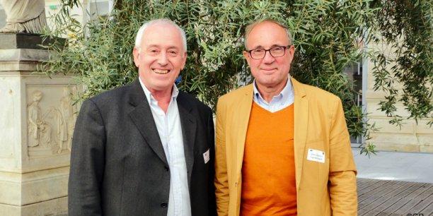 Gilles Roche, président de Mélies Business Angels et Alains Delecroix, président de Capitole Angels.