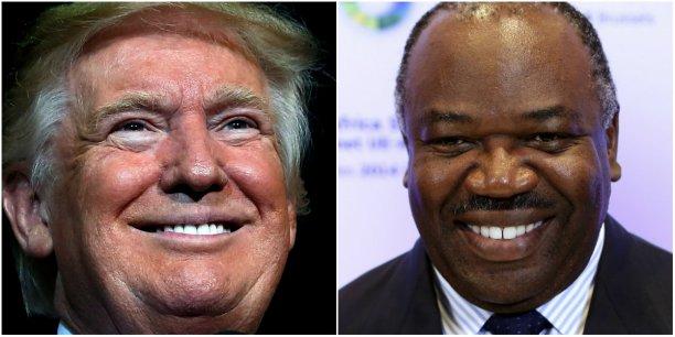 Donald Trump, 45e président des Etats-Unis et Ali Bongo,3e président du Gabon