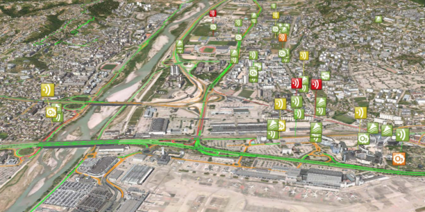Le monitoring urbain permet à la Métropole Nice Côte d'Azur de piloter notamment les flux et les pollutions possibles via 3 000 capteurs disséminés à l'ouest de la ville.