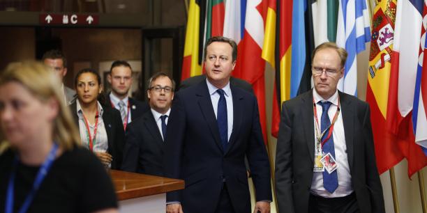 Ivan Rogers en compagnie de l'ancien Premier ministre David Cameron à Bruxelles, le 28 juin 2016.