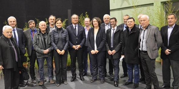 François Commeinhes entouré de ses vice-présidents