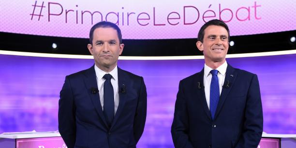 Un second tour serré entre Valls et Hamon