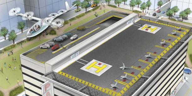L'application de VTC Uber a dévoilé en octobre 2016 ses projets de voitures volantes pour son service baptisé Uber Elevate.