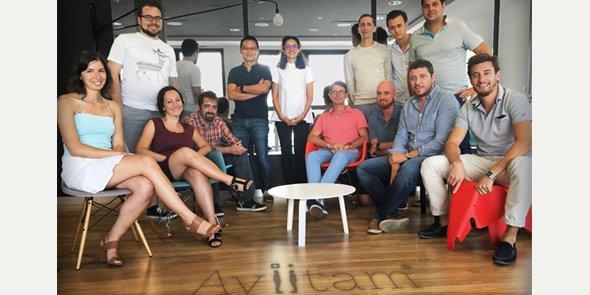L'équipe d'Aviitam, concepteur montpelliérain du carnet de santé intelligent.