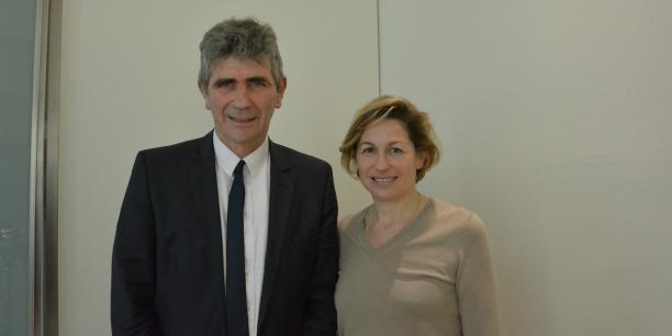 Jean Dionis président du groupe UDI à la Région Nouvelle-Aquitaine et Nathalie Delattre, conseillère régionale, annoncent le dépôt d'une plainte nominative au commissariat de Bordeaux.