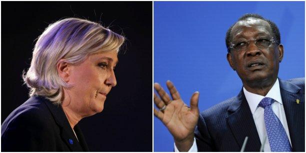 Marine Le Pen et Idriss Deby discutent du terrorisme