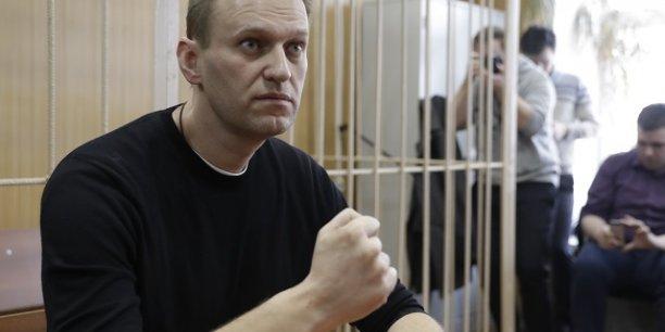 Alexeï Navalny quelques heures après son arrestation ce dimanche 26 mars lors de violentes manifestations contre la corruption en Russie.