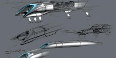 Shéma de l'Hyperloop imaginé par le milliardaire américain Elon Musk
