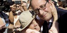 François Hollande lors d'un meeting à La Réunion.