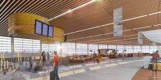 La création d'une zone commerciale de 5 000 m2 est l'un des deux projets prévus dans ce plan de réaménagement de l'aéroport