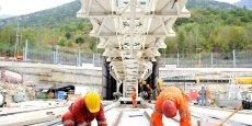 Le futur tunnel en travaux.