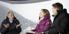 Stéphane Richard au Forum économique mondial de Davos.