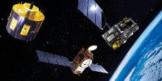 """Avec l'acquisition de la division optoélectronique du suisse Ruag, Thales """"met la main sur une technologie clé"""" dans le domaine des constellations, explique le PDG du groupe d'électronique, Patrice Caine,"""