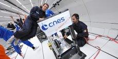 L'Airbus A310 Zero-G de Novespace accueille des expériences scientifiques notamment pour le compte du Centre national d'études spatiales, dont la société est une filiale.