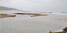 Le littoral méditerranéen lors d'une tempête en 2013.