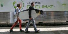 Le train du climat était hier en gare de Toulouse Matabiau