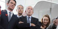 Gérard Collomb aux cotés de Jean-Jack Queyranne et de Manuel Vals à Lyon en mai dernier