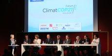Huit intervenants ont débattu autour de la transition énergétique ce jeudi 15 octobre.