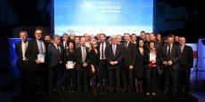 Les lauréats et parrains de l'édition 2015 des Trophées de l'Aéronautique