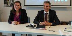 Hélène Cluet, la directrice générale, et Bernard Creissen, le président de la nouvelle entité