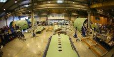 Usine de Latécoère, sous-traitant de rang 1 d'Airbus