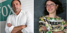 Ludovic Le Moan, CEO de Sigfox, et Carole Zisa-Garat, fondatrice de Telegrafik