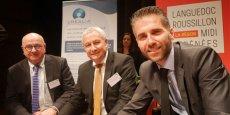 J.-M. Bonnefoy (Initiative LRMP), P. Sauveplane (Ordre des experts-comptables) et S. Marcel (Créalia)