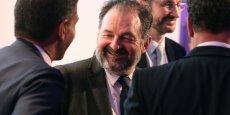 """Dirigé par Denis Olivennes (ici, lors de la présentation des résultats du groupe, le 9 mars 2016), Lagardère Active possède de nombreux et grands titres de la presse française comme le """"Journal du Dimanche"""" (JDD), """"Elle"""", """"Paris Match"""", """"Télé 7 jours""""..."""