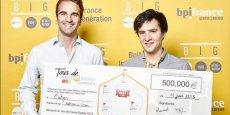 Les fondateurs de Cubyn, vainqueurs du concours Tour de France Digitale 2015
