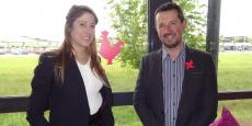 Audrey Bergenthal, présidente de Digital Valence Romans, et Jean-Claude Blachier, délégué général