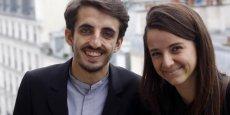 Les deux fondateurs de la plateforme d'investissement participatif 1001Pact, Julien Benayoun et Eva Sadoun.