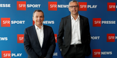 Alain Weill (NextRadioTV) et Michel Combes (SFR, Altice) le 26 avril 2016.