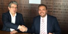 Pierre Dufresne et Vincent Menny lors de la signature des contrats de partenariats