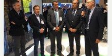 G. d'Etorre (Hérault Méditerranée) et F. Commeinhes (Thau Agglo), au centre, annoncent un partenariat opérationnel sur le projet Héliopole