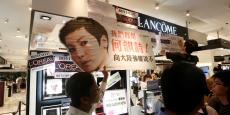 Le stand de Lancôme de Times Square ( important centre commercial de l'île de Hong Kong) était fermé mercredi, de même que son centre de soins de beauté et les locaux de l'Oréal dans le même immeuble.