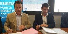 André Deljarry, président de la CCI de Montpellier, et Christophe Chuecos-Font, président de la Chambre des experts-comptables du Grand Montpellier