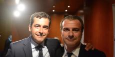 Johan Bencivenga, président de l'UPE13 et Jean-Luc Chauvin, chef de file de l'union patronale pour les élections à la CCI Marseille Provence.