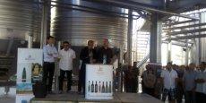 Le 21 juin, jour de l'inauguration de la nouvelle cave de vinification des Vignobles Montagnac.