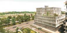 """L'immeuble """"Pespective"""" construit sur la zone de  l'opération d'intérêt national Bordeaux Euratlantique sera livré au 1er trimestre 2018."""