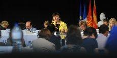 Carole Delga s'est exprimée face à la presse après le vote en faveur d'Occitanie en assemblée plénière, le 24 juin
