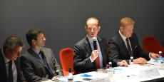 Allan Sichel (au centre), nouveau président du Conseil interprofessionnel du vin de Bordeaux