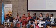 Femmes leaders africaines à la tribune de l'Unesco